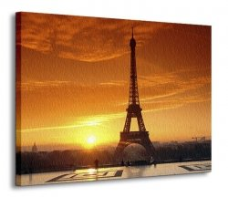 Obraz do salonu - Widok na Wieżę Eiffel - 120x90 cm