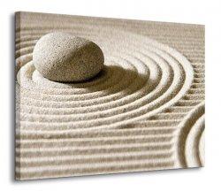 Obraz na płótnie - Wzory na piasku II - 120x90 cm