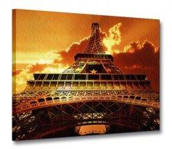 Obraz krajobraz - Wieża Eiffel o zachodzie - 120x90 cm