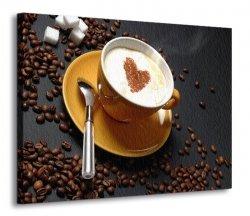 Obraz kuchenny - Filiżanka kawy - 120x90 cm