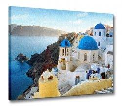 Obraz krajobraz - Grecja, Santorini - 120x90 cm