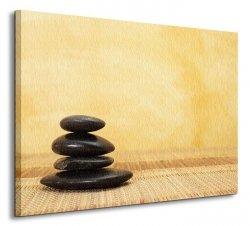 Obraz ścienny - Gorący kamień - SPA - 80x60 cm