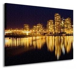 Golden Vancouver - Obraz na płótnie