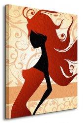 Modna Dziewczyna - Obraz na płótnie