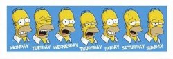 The Simpsons Homer Faces - reprodukcja