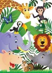 Tapeta dla dzieci - Safari 183x254 cm