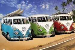 VW Californian Campers - plakat