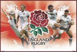England Rugby - Zawodnicy - plakat