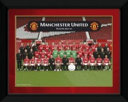 Obraz w ramie - Manchester United Team Photo 11/12