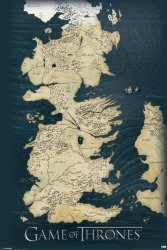 Gra o Tron - Map - plakat