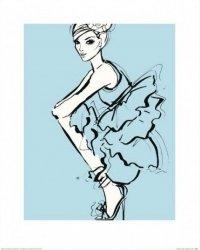 Dziewczyna w niebieskiej sukience - reprodukcja
