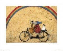 Para na rowerze, Tęcza - reprodukcja