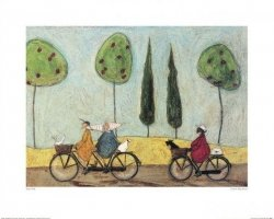 Ludzie na rowerach - reprodukcja