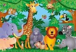 Fototapeta dla dzieci - Dżungla, Jungle - 366x254 cm