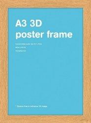 Dębowa rama drewniana A3 29,7x42 cm