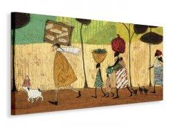 Doris helps out on the trip to Mzuzu - Obraz na płótnie