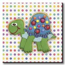 Obraz dla dzieci - Żółwik -Trundling Tortoise - 30x30 cm