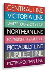 London Underground (Stations) - Obraz na płótnie