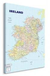 Map Of Ireland - Obraz na płótnie