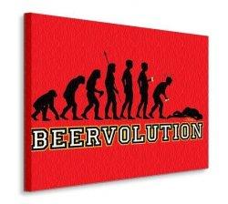 Obraz na płótnie - Ewolucja - Beervolution - 90x120 cm