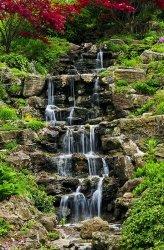 Fototapeta na ścianę - Kaskadowy wodospad  115x175 cm