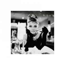 Audrey Hepburn (B&W) - reprodukcja