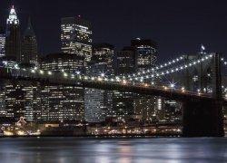 Fototapeta do salonu - Brooklyn Bridge, New York - 254x183cm