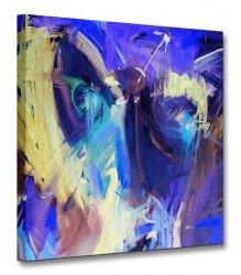 Obraz na płótnie - Niebieska abstrakcja 40x40cm