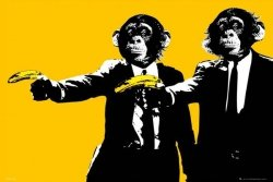 Pulp Fiction - Monkeys - plakat
