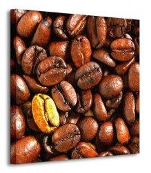 Złote Ziarno Kawy - metamorfoza II - Obraz na płótnie