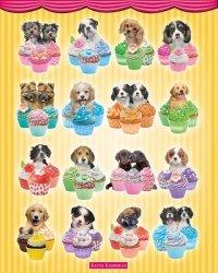 Pieski w babeczkach - plakat