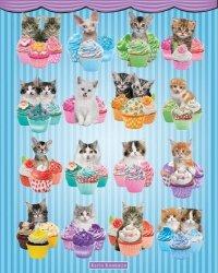 Kotki w babeczkach - plakat