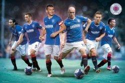 Glasgow Rangers Zawodnicy - plakat