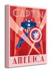 Marvel Deco (Captain America) - Obraz na płótnie