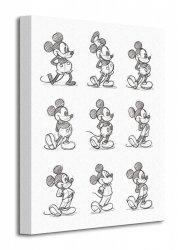 Mickey Mouse (Sketched - Multi) - Obraz na płótnie