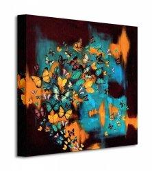 Obraz do salonu - Butterflies On Turquoise