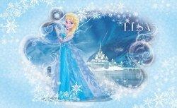 Fototapeta ścienna - Kraina Lodu Frozen Elsa - 254x184cm
