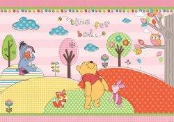 Fototapeta dla Dziecka - Kubuś Puchatek i Przyjaciele Głowa w Chmury - 368x254cm