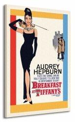 Obraz na płótnie - Audrey Hepburn (Breakfast at Tiffany's One-Sheet)