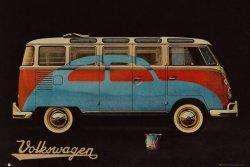 VW Volkswagen Camper - plakat