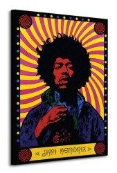 Jimi Hendrix (Psychedelic) - Obraz na płótnie