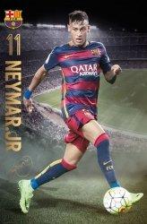 Plakat na ścianę - Barcelona Neymar action 15/16