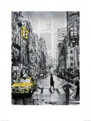 New York Brooklyn Taxi - reprodukcja