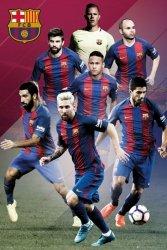 FC Barcelona Messi, Suarez, Neymar, Turan, Pique, Iniesta - plakat
