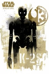 Star Wars Łotr 1 (K-2S0 Grunge) - plakat