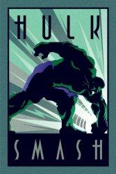 Marvel Deco Hulk Uderzenie - plakat - plakat