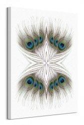 Peacock Feathers Kaleidoscope - obraz na płótnie