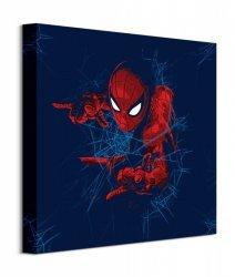 Spider-Man Homecoming Web Blue - obraz na płótnie