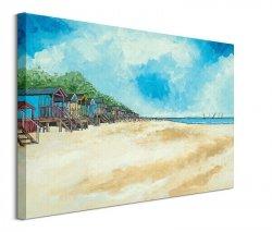Summer Beach Huts III - obraz na płótnie