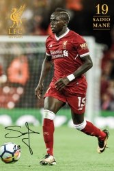 Liverpool Mané 17/18 - plakat